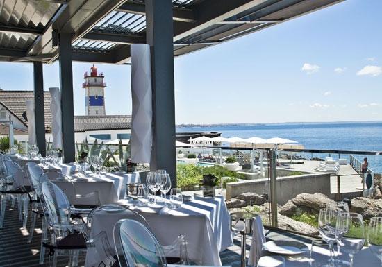 Bar On The Rocks At Farol Hotel In Cascais Portugal